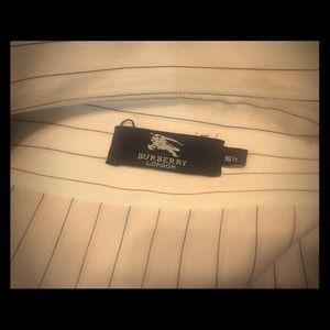 Men's Pin Striped Burberry Dress Shirt